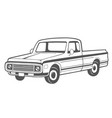 pickup truck vector image