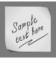 paper sticker over grey background vector image vector image