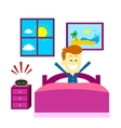 Wake Up Happily vector image