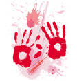 bloods grunge texture with hands vector image