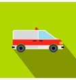 Ambulance car flat icon vector image vector image