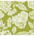 seamless grunge floral pattern vector image vector image