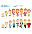 Set of people age flat icons vector image