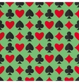 Playing cards suits seamless pattern vector image