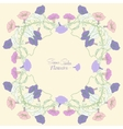 Background with bindweed flowers 2 vector image