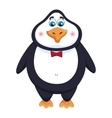 Cheerful cute penguin gentleman with bow tie vector image