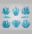 ice crystals isolated on transparent background vector image