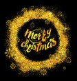 merry christmas lettering design set typography vector image