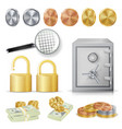 money secure concept gold silver copper vector image