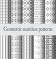 monochrome-geometric-seamless-pattern vector image