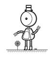 Top Hat Robot vector image