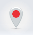 Japanese icon point for map vector image vector image
