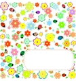 Seamless texture with flowers and ladybirds floral vector image vector image