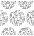 Kitchen Doodle Seamless Pattern vector image