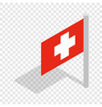 switzerland flag isometric icon vector image vector image