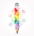 Abstract infographic Design Minimal style pencil vector image
