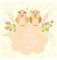 Owls cute vector image