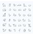 icons Zoo Animals vector image