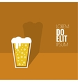 Abstract background with Beer glass vector image