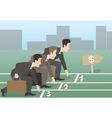 businessman run vector image