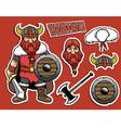 cartoon if viking warrior vector image