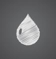 drop sketch logo doodle icon vector image