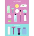 Elements for girls and boys face wash vector image