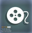 film icon On the blue-green abstract background vector image