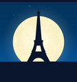 france silhouette of attraction travel banner vector image