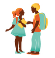 Shool boy and girl vector image