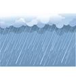 Wet day landscape vector image