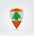 Lebanon icon point for map vector