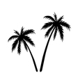 Two palms sketch vector image