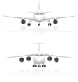 airplane 01 vector image vector image