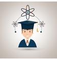 student man graduation education vector image