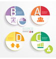 Abstract infographic circle Design Minimal style vector image vector image