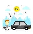 Ready To Go To Office vector image