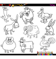 farm animals coloring book vector image vector image