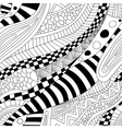 Abstract zentangle doodle waves seamless pattern vector image vector image