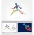 Running marathon people run colorful icon vector image
