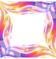 Abstract rainbow wave ripples frame vector image