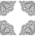 Boho doodle hand drawn frame vector image