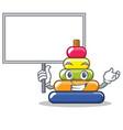 bring board pyramid ring character cartoon vector image