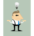Cartoon businessman with no idea vector image