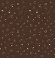 coffee pattern brown color vector image