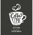Coffee Time Hipster Vintage Stylized Coffee Paper vector image