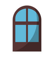 isolated window cartoon vector image