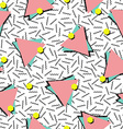 Retro 80s style seamless pattern background vector image