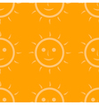 Seamless pattern of sun vector image