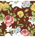 Seamless Pattern with Vintage Wildflowers vector image